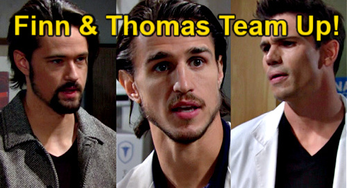 The Bold and the Beautiful Spoilers: Finn Helps Thomas Search for New Murder Details - Visit Coroner for Vinny Answers?