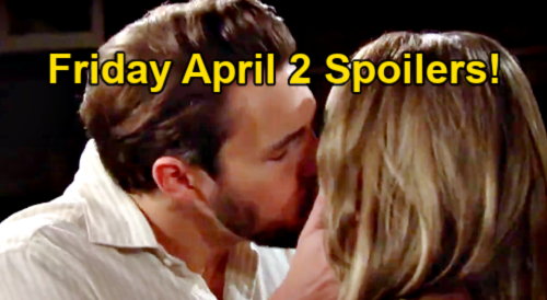 The Bold and the Beautiful Spoilers: Friday, April 2 – Hope Surrenders to Liam's Kiss – Quinn & Zoe Alliance Trouble for Paris