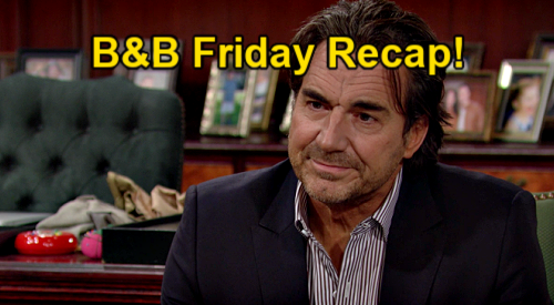 The Bold and the Beautiful Spoilers: Friday, March 5 Recap - Ridge Says Carter Deserves Better - Zende Gives Paris Forrester Gown