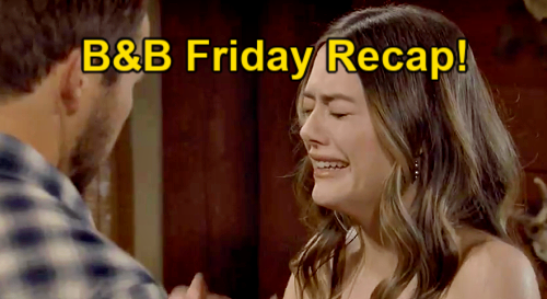 The Bold and the Beautiful Spoilers: Friday, May 21 Recap – Hope's Hysterical Crying – Thomas' Vow Shakes Bill