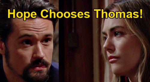 The Bold and the Beautiful Spoilers: Hope Chooses Devoted Thomas – Annika Noelle & Matthew Atkinson Hot Onscreen Chem Explored?