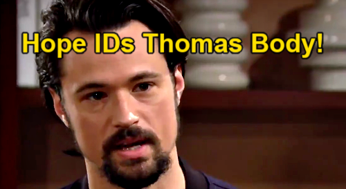 The Bold and the Beautiful Spoilers: Hope Identifies Thomas' Dead Body – Rushes to Hospital for Grim Task After Murder