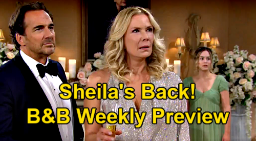 The Bold and the Beautiful Spoilers: Hot Preview – Brooke Shatters Glass Over Sheila Crashing Reception – Finn's Bio Mom Bomb