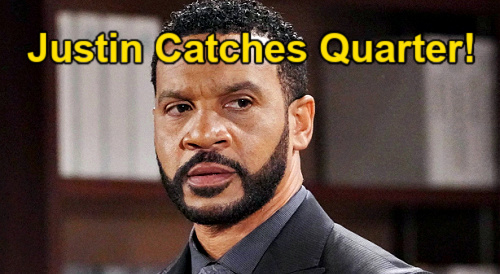 The Bold and the Beautiful Spoilers: Justin Busts Quinn & Carter – Spies for Ridge & Discovers Secret Lovers