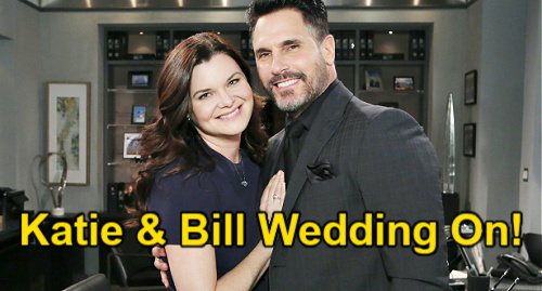 The Bold and the Beautiful Spoilers: Katie Decides Bill's Back – Risky Wedding for Reunited Couple