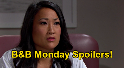 The Bold and the Beautiful Spoilers: Monday, January 25 - Steffy's Anxious For Paternity Test Results - Zoe's Next Move