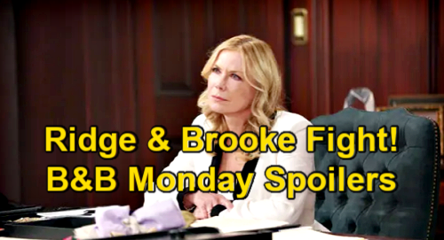 The Bold and the Beautiful Spoilers: Monday, March 29 – Quinn & Shauna's Pact – Ridge & Brooke Fight Over Thomas Trust