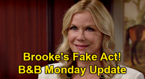 The Bold and the Beautiful Spoilers: Monday, March 29 Update – Brooke's Fake Flo Act – Ridge Questions Wife's Sincerity