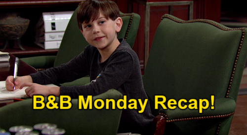 The Bold and the Beautiful Spoilers: Monday, May 3 Recap – Liam Loses It Over Thomas' Tribute – Douglas' Sweet Vinny Heaven Wish