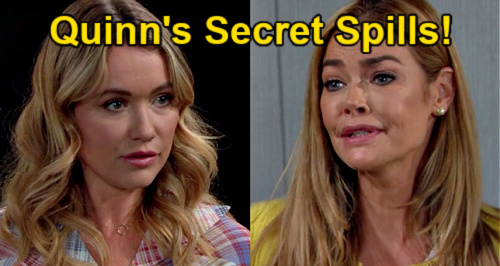 The Bold and the Beautiful Spoilers: Shauna Tells Daughter Quinn's Cheating Secret – Flo Spills to Wyatt & Brooke?
