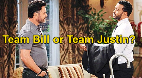 The Bold and the Beautiful Spoilers: Team Bill or Team Justin?