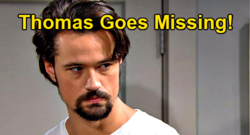 The Bold and the Beautiful Spoilers: Thomas Disappears - Hope Searches When Vinny Death Revelation Goes Wrong