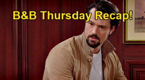The Bold and the Beautiful Spoilers: Thursday, April 15 Recap – Thomas Suspects Baker Already Knows Vinny's Killer