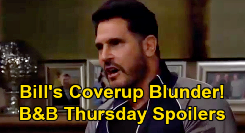 The Bold and the Beautiful Spoilers: Thursday, April 8 – Bill Blunders Vinny Cover-up - Liam Misses Hope Lunch Date