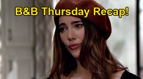 The Bold and the Beautiful Spoilers: Thursday, January 14 Recap - Hope Overhears Liam & Vinny - Steffy Hit Hard
