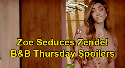 The Bold and the Beautiful Spoilers: Thursday, January 28 - Bill & Katie Seek Relationship Advice - Zoe Tries To Seduce Zende