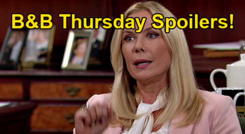 The Bold and the Beautiful Spoilers: Thursday, July 29 – Quinn's Visit Enrages Brooke – Eric Shocked by Wife's New Attitude