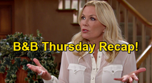 The Bold and the Beautiful Spoilers: Thursday, May 13 Recap – Brooke Predicts Quinn's Fate - Shauna Confesses Carter Affair