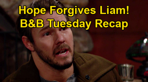 The Bold and the Beautiful Spoilers: Tuesday, January 12 Recap - Hope Forgives Liam - Finn Not Sure About Steffy Future