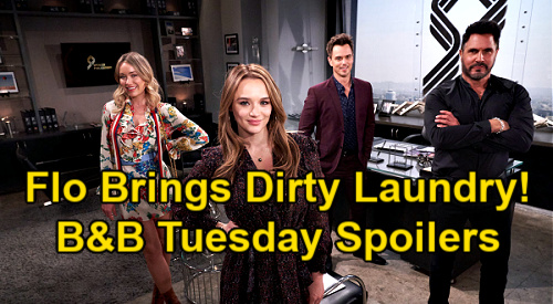 The Bold and the Beautiful Spoilers: Tuesday, January 19 - Hope Crushes Liam's Future - Flo Hints Sally Dirt For Summer