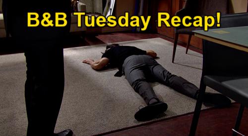 The Bold and the Beautiful Spoilers: Tuesday, June 22 Recap – Katie's Prison Break at Bill – Justin Attacks Thomas