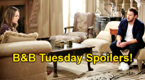 The Bold and the Beautiful Spoilers: Tuesday, May 4 – Liam Covers Panic as Hope's Suspicions Grow - Baker Grills Thomas