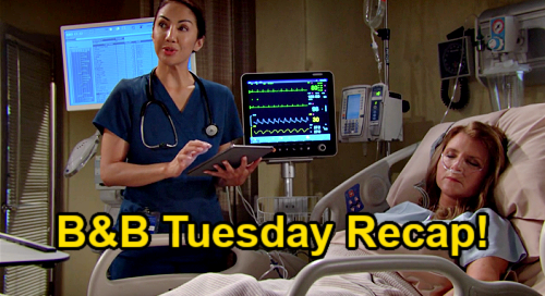 The Bold and the Beautiful Spoilers: Tuesday, September 7 Recap – Finn Awaits Sheila's Test Results – Steffy's Hospital Outburst