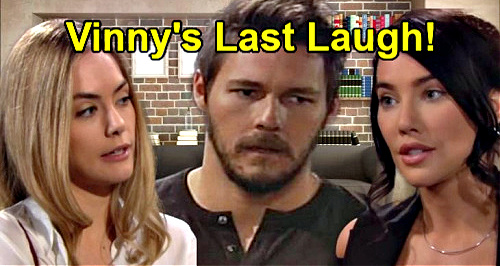 The Bold and the Beautiful Spoilers: Vinny's Last Laugh – Steffy's Baby IS Liam's, Finn & Hope Heartbreak?