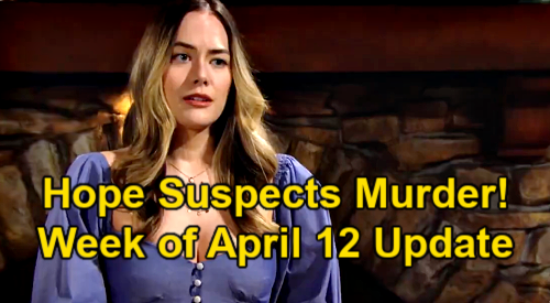 The Bold and the Beautiful Spoilers: Week of April 12 Update – Hope Tells Thomas Vinny's Death Not Accidental - Charlie's Clue