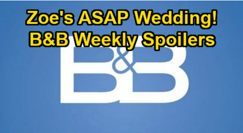 The Bold and the Beautiful Spoilers: Week of January 25 – Zoe's ASAP Wedding After Zende Rejection - Steffy Awaits DNA Results