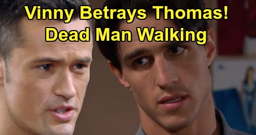 The Bold and the Beautiful Spoilers: Vinny's Deadly Twist - Betrays Thomas Over Douglas - Leads to Buddy's Grim Fate?