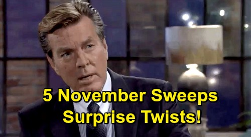 The Young and the Restless Spoilers: 5 November Sweeps Surprises – Whodunit Brings Stunning Suspects