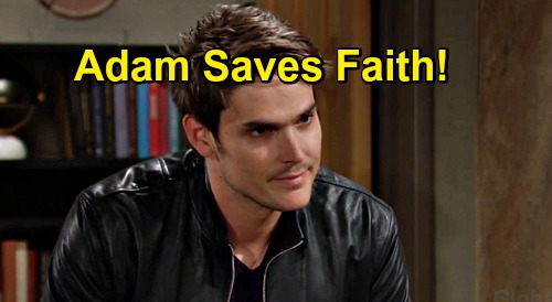 The Young and the Restless Spoilers: Adam's Hero Moment, Saves Faith as Danger Strikes – Forces Forgiveness & Newman Gratitude?