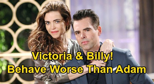 The Young and the Restless Spoilers: Billy and Victoria Behave Like Adam at His Worst – Hypocrites Crash In Genoa City