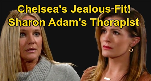 The Young and the Restless Spoilers: Chelsea Attacks Adam's New Therapist, Sharon - Cancer Patient Collapse During Confrontation