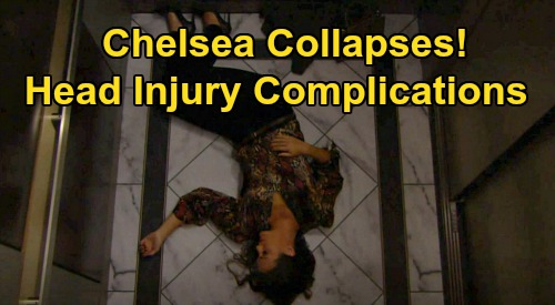 The Young and the Restless Spoilers: Chelsea Collapses, Head Injury Complications – Scary Hospital Crisis Pulls Adam Back?