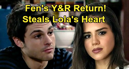 The Young and the Restless Spoilers: Fenmore 'Fen' Baldwin Returns and Steal Lola's Heart – Gives Theo Real Competition?