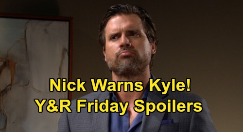 The Young and the Restless Spoilers: Friday, August 21 – Lola Confides in Theo – Nick Warns Kyle – Abby Digs for Phyllis Info