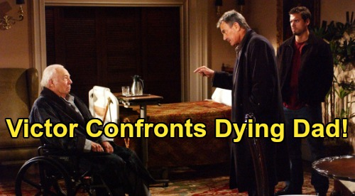 The Young and the Restless Spoilers: Friday, July 31 - Victor Angrily Confronts Dying Father - Danny Returns To Genoa City