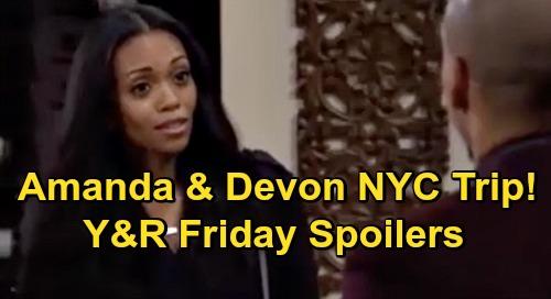 The Young and the Restless Spoilers: Friday, October 23 – Amanda & Devon's Trip - Dark Adam Cloud Hangs Over Sharon & Rey Future