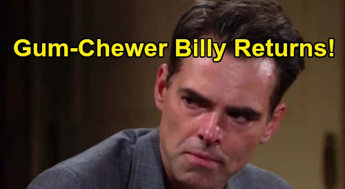 The Young and the Restless Spoilers: Is Gum-Chewer Billy Gone for Good – Dark Alternate Personality Returns?