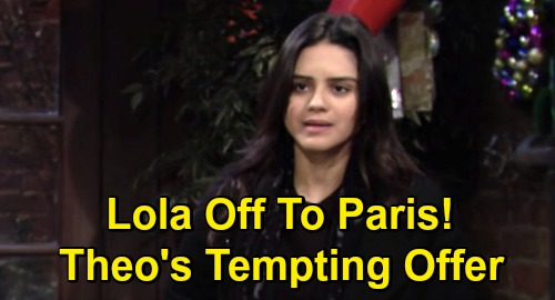 The Young and the Restless Spoilers: Lola's Paris Adventure Awaits, Theo's Tempting Offer – Chance at Romance & Restaurant?