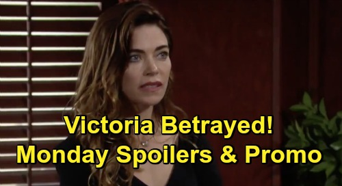 The Young and the Restless Spoilers: Monday, October 26 – Victoria Alarmed at Betrayal – Kevin Celebrates Adam's Ruin