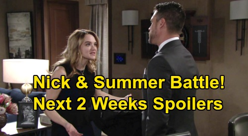 The Young and the Restless Spoilers Next 2 Weeks: Nick & Summer Battle – Chelsea & Adam's Sneaky Plan – Elena Blows Up at Amanda