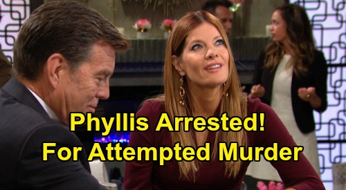 The Young and the Restless Spoilers: Phyllis Arrested For Attempted Murder of Paul and Christine On New Y&R Episodes?