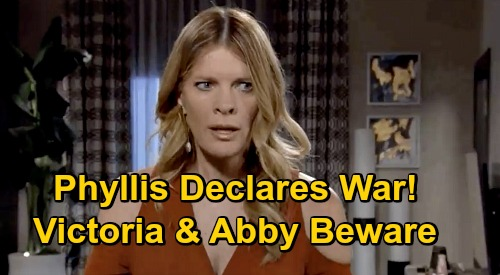 The Young and the Restless Spoilers: Phyllis Declares War on Backstabbing Victoria & Grabby Abby – Hotel Loss Brings Revenge?
