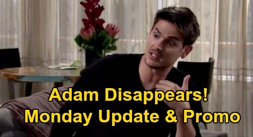 The Young and the Restless Spoilers Recap: Monday, August 24 - Adam Disappears As AJ Memories Flood Back - Victoria & Billy Make Peace