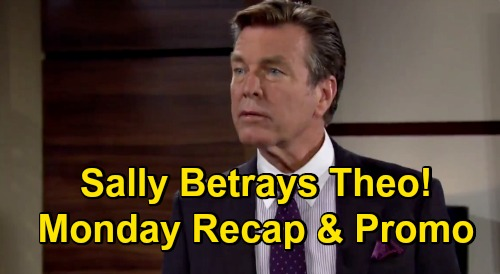 The Young and the Restless Spoilers Recap: Monday, November 23 - Sally Betrays Theo - Shooter Used Billy's Gun - Mariah Surprise