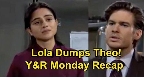 The Young and the Restless Spoilers Recap: Monday, September 21 - Lola Breaks Up With Theo - Kyle & Summer Exchange Rings