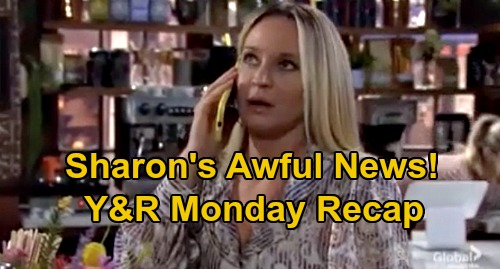 The Young and the Restless Spoilers Recap: Monday, September 7 - Chance Seeks Adam - Sharon's Awful Cancer Report - Lola Rages at Theo